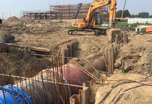 污水处理厂钢板桩施工